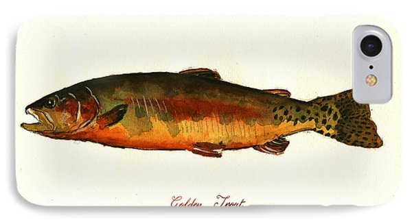 California Golden Trout Fish IPhone Case by Juan  Bosco