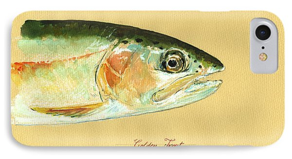 California Golden Trout IPhone Case by Juan  Bosco