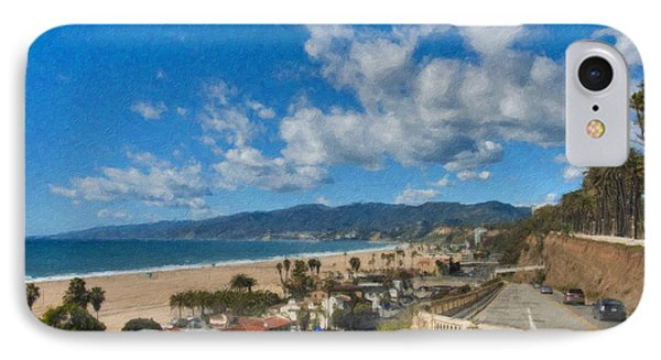 California Incline Palisades Park Ca IPhone Case by David Zanzinger