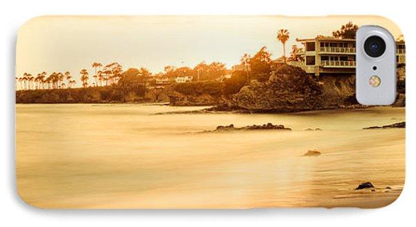 California Laguna Beach Sunset Panorama Photo IPhone Case by Paul Velgos