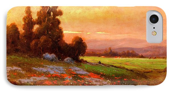 California Landscape With Poppies And Lupine 1885 IPhone Case by Peter Gumaer Ogden Collection