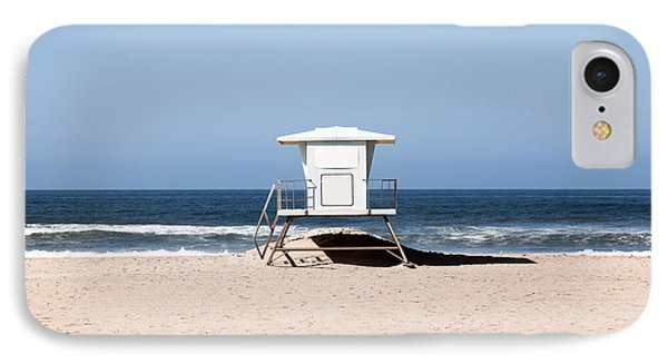 California Lifeguard Tower Photo IPhone Case by Paul Velgos