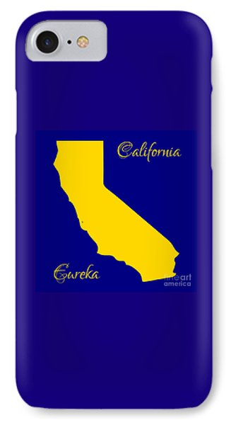 California Map With State Colors And Motto Phone Case by Rose Santuci-Sofranko