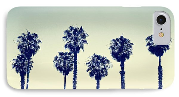 Tree iPhone 7 Case - California Palm Trees by Anna Floridia