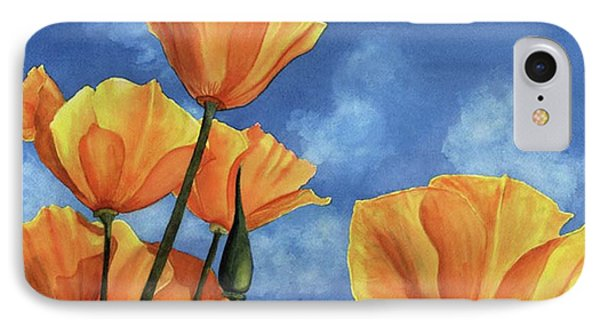 California Poppies IPhone Case by Karen Wright