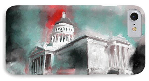 California State Capitol Building 556 2 IPhone Case by Mawra Tahreem