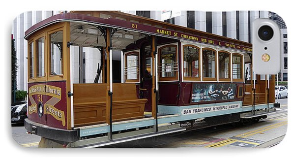 California Street Cable Car IPhone Case by Steven Spak