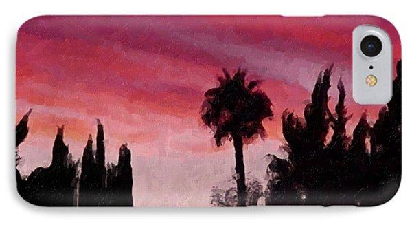 California Sunset Painting 1 Phone Case by Teresa Mucha