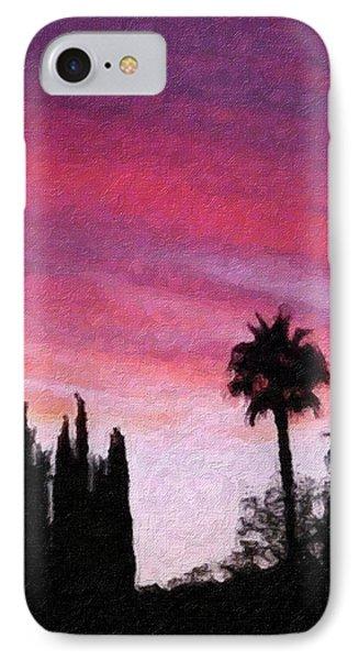 California Sunset Painting 2 Phone Case by Teresa Mucha