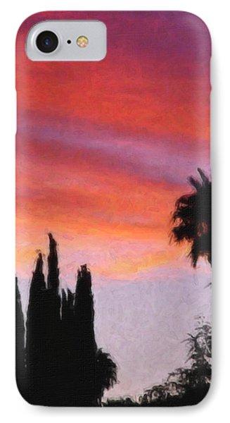 California Sunset Painting 3 Phone Case by Teresa Mucha