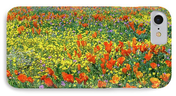 IPhone Case featuring the photograph California Wildflower Super Bloom by Ram Vasudev