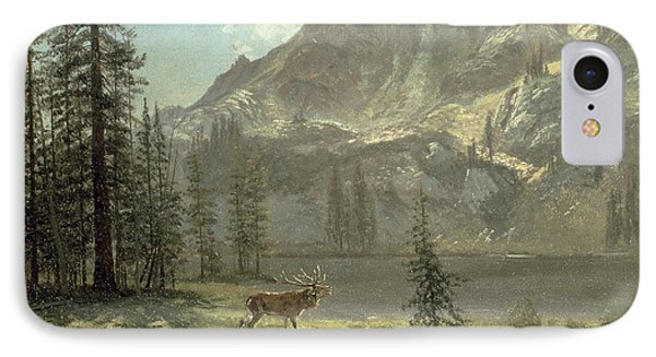 Call Of The Wild Phone Case by Albert Bierstadt