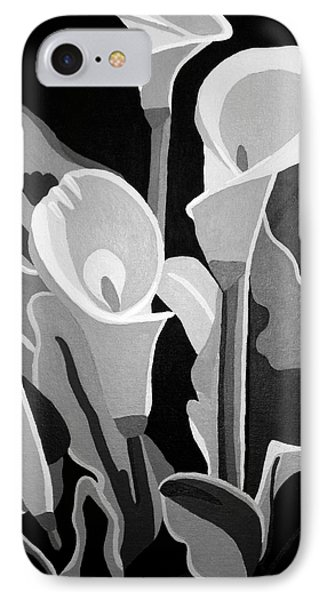 Calla Lilies Bw IPhone Case by Angelina Vick