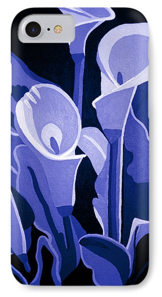 Calla Lilies Royal IPhone Case by Angelina Vick
