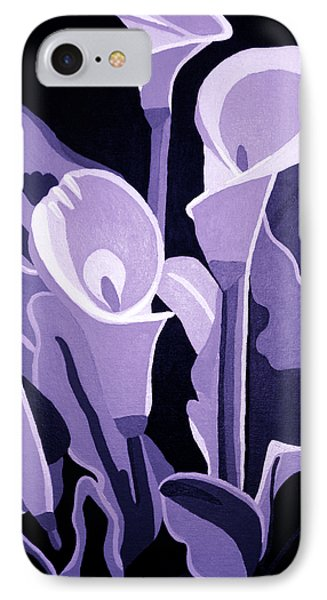 Calla Lillies Lavender IPhone Case by Angelina Vick