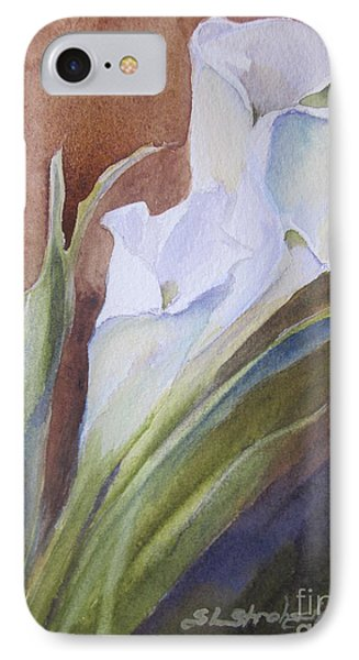 IPhone Case featuring the painting Calla Lillies by Sandra Strohschein