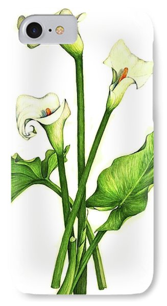 IPhone Case featuring the painting Calla Lilly by Heidi Kriel