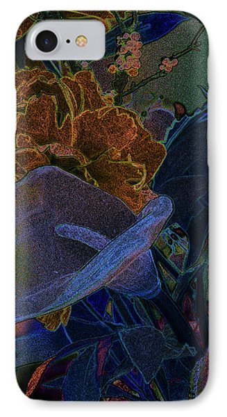 IPhone Case featuring the digital art Calla Lily Abstract by Stuart Turnbull
