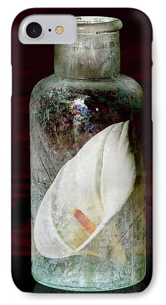 IPhone Case featuring the photograph Calla Lily In A Bottle by Phyllis Denton