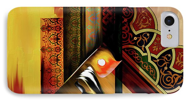 IPhone Case featuring the painting Calligraphy 102  2 1 by Mawra Tahreem