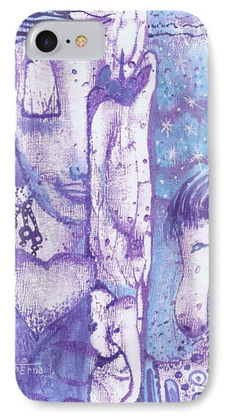 IPhone Case featuring the mixed media Calling Upon The Spirit Animals by Prerna Poojara