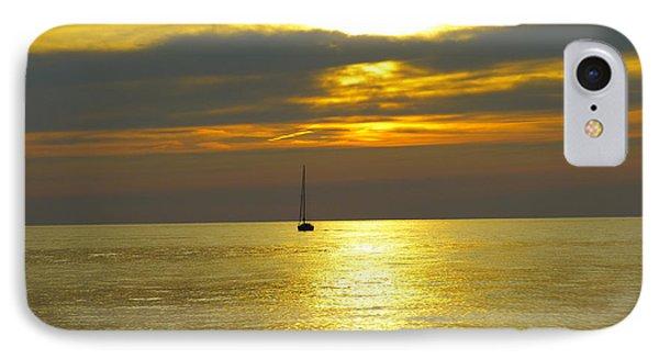 IPhone Case featuring the photograph Calm Before Sunset Over Lake Erie by Donald C Morgan
