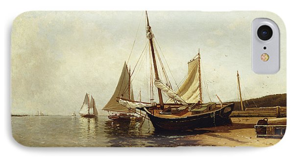 Calm Morning, Portland Harbor IPhone Case by Alfred Thompson Bricher