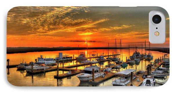 IPhone Case featuring the photograph Calm Waters Bull River Marina Tybee Island Savannah Georgia by Reid Callaway