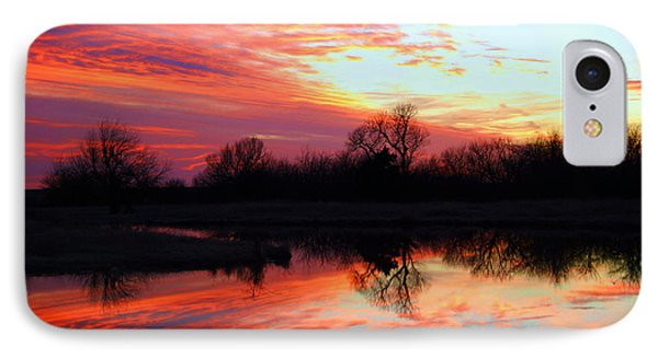 IPhone Case featuring the photograph Calming Sunset by Larry Keahey