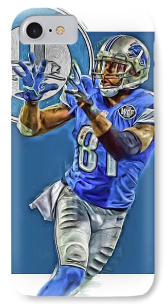 Calvin Johnson Detroit Lions Oil Art 2 IPhone Case