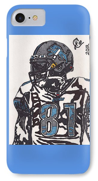 Calvin Johnson Jr 3 IPhone Case by Jeremiah Colley