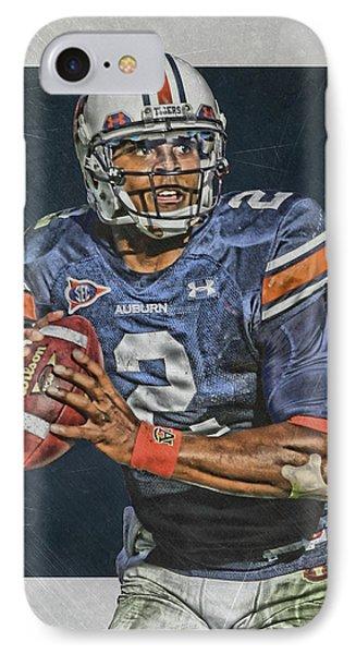 Panther iPhone 7 Case - Cam Newton Auburn Tigers Art by Joe Hamilton