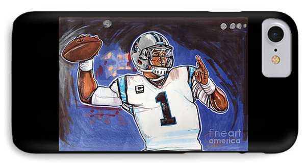 Cam Newton IPhone Case by Dave Olsen