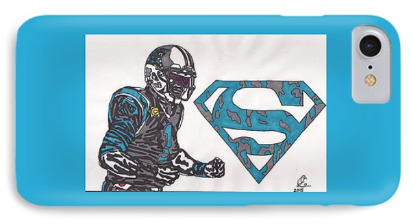 Cam Newton Superman Edition IPhone Case by Jeremiah Colley