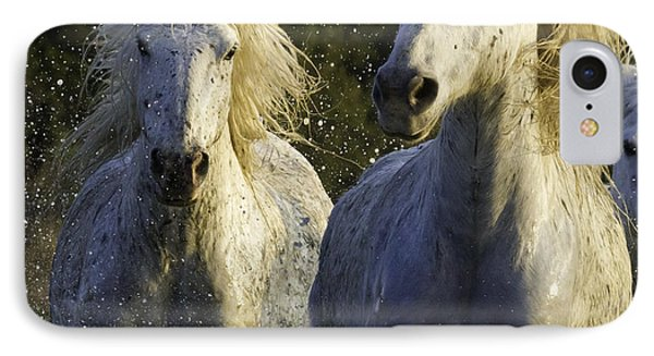 Camargue Spray Phone Case by Carol Walker
