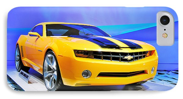 Camaro Bumble Bee 0993 Phone Case by Michael Peychich