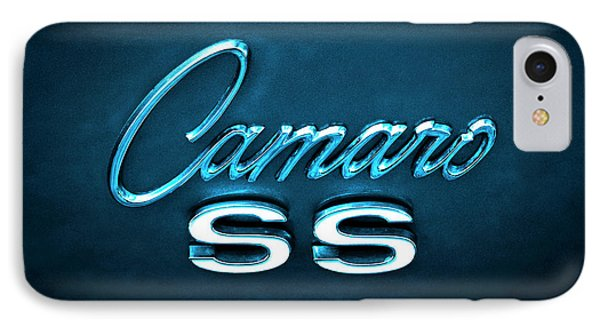 IPhone Case featuring the photograph Camaro S S Emblem by Mike McGlothlen