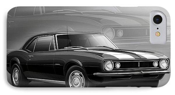 Camaro Z28 1967 IPhone Case by Etienne Carignan