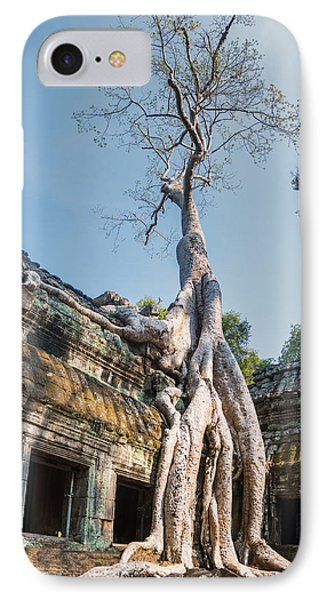 Cambodia Angkor Wat Tree Roots IPhone Case by Cory Dewald