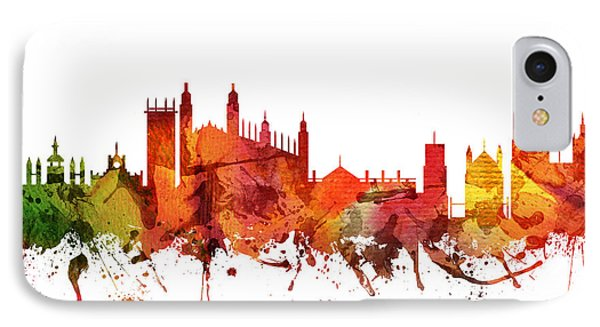 Cambridge Cityscape 04 IPhone Case by Aged Pixel