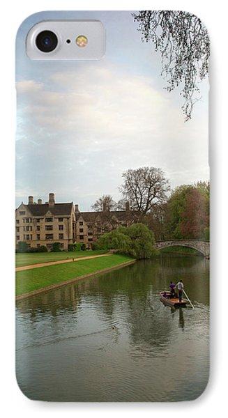 Cambridge Clare College Stream And Boat Phone Case by Douglas Barnett