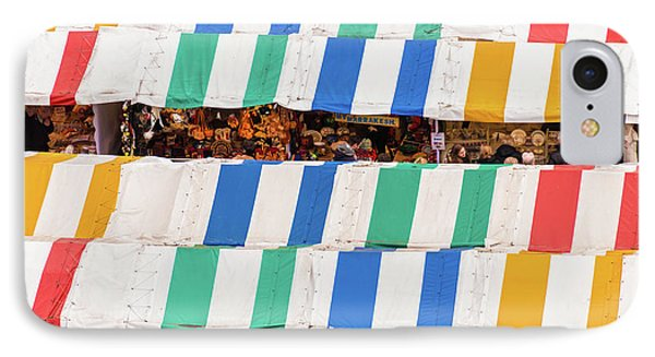 Cambridge Market Stripes IPhone Case by David Warrington