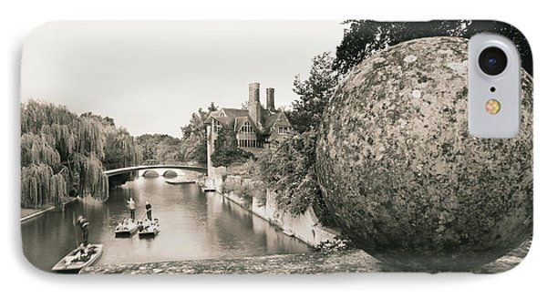 IPhone Case featuring the photograph Cambridge Punting  by Eden Baed