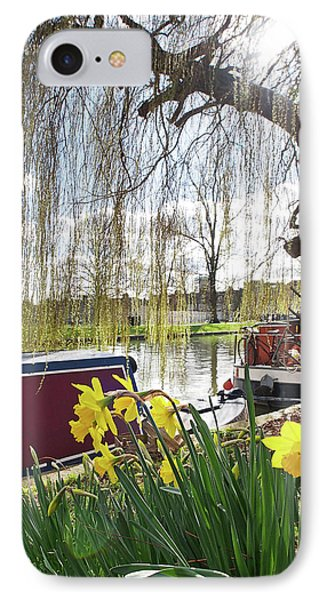 IPhone Case featuring the photograph Cambridge Riverbank In Spring by Gill Billington