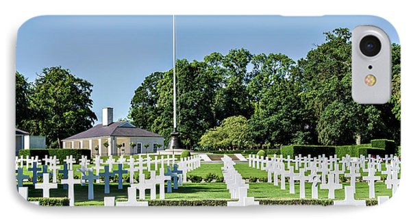 Cambridge England American Cemetery IPhone Case by Alan Toepfer