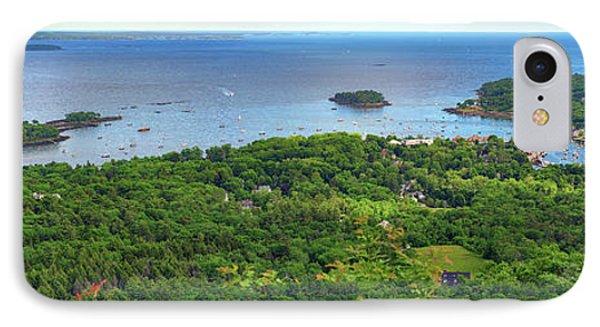Camden Harbor From The Summit Of Mount Battie IPhone Case