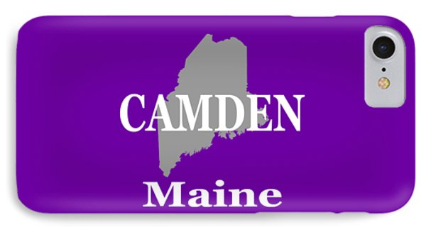 IPhone Case featuring the photograph Camden Maine State City And Town Pride  by Keith Webber Jr