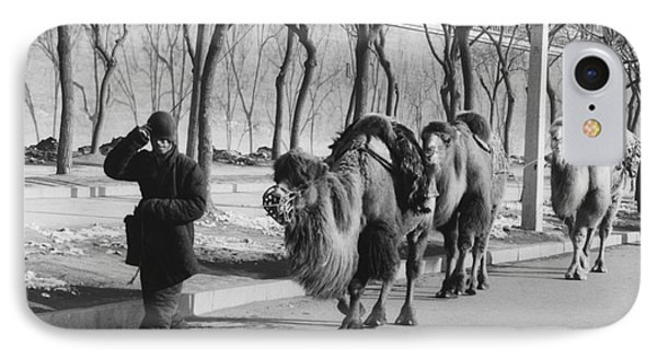 Camel Caravan, China 1957 IPhone Case by The Harrington Collection