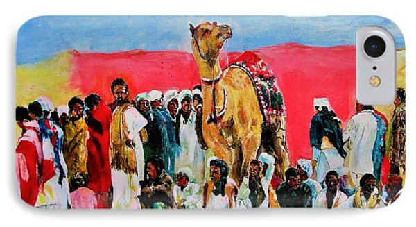 Camel Festival IPhone Case by Khalid Saeed
