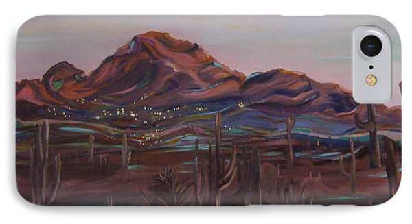 IPhone Case featuring the painting Camelback Mountain by Julie Todd-Cundiff